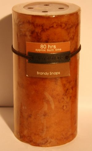 Large Brandy Snaps Pillar Candle